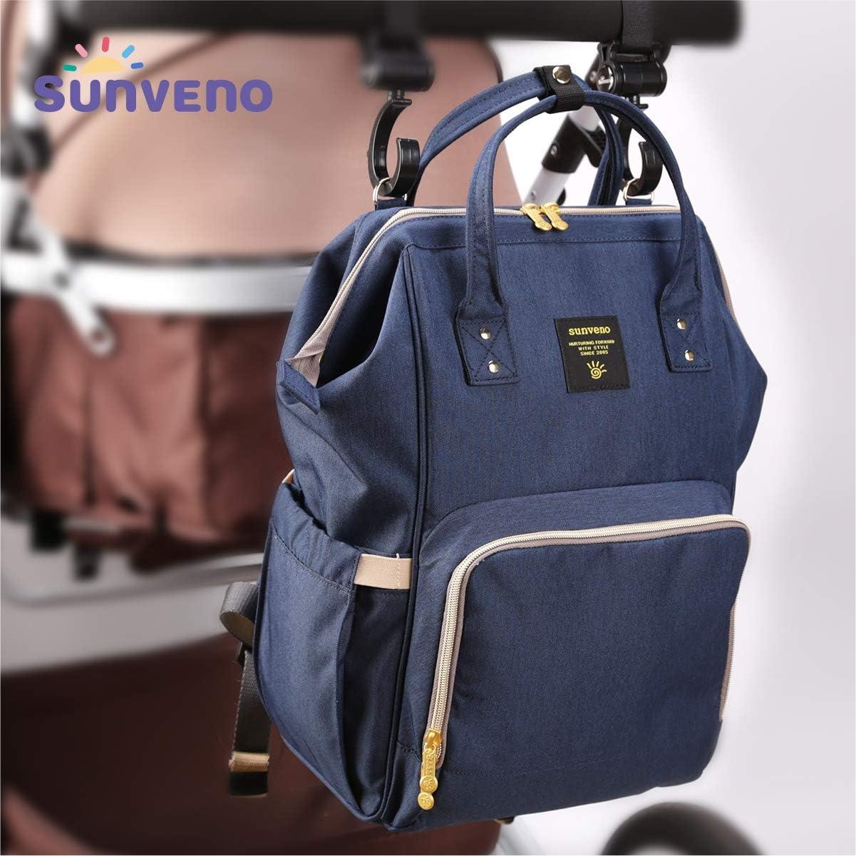 Mochila para cambiar pa/ñales Sunveno NB22179-ZQ-USB-E-VC color azul