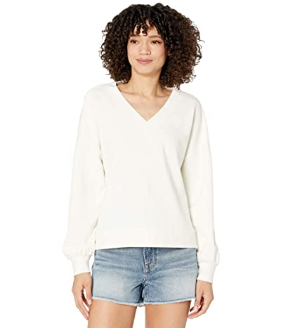 Madewell V-Neck Drop Sleeve Sweatshirt Women