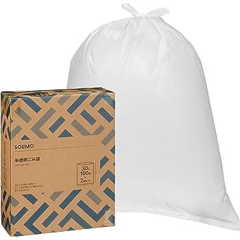 [Amazonブランド]SOLIMO ごみ袋 半透明 30L 100枚 x2個セット(200枚)