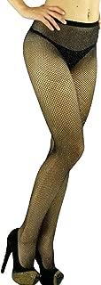 ToBeInStyle Women's Spandex Seamless Glittery Fishnet Pantyhose Tights Hosiery