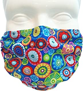 Breathe Healthy Face Mask for Dust, Allergy and Flu; Adjustable Ear Loops, Washable; Medallions Design (Adult)