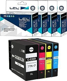 LCL Canon用 キャノン用 PGI-2200XL PGI-2300XL BK/C/M/Y 增量 残量表示機能付(4色セット ブラック シアン マゼンタ イエロー) 顔料 互換インクカートリッジ 対応機種:CANON(キャノン)・MAXIF...