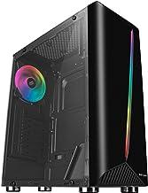 Mars Gaming MCX - Caja PC (cristal templado, ventilador RGB DUAL RING, ATX), color negro