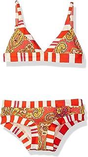 OndadeMar Girls Camellia Triangle Bikini Set