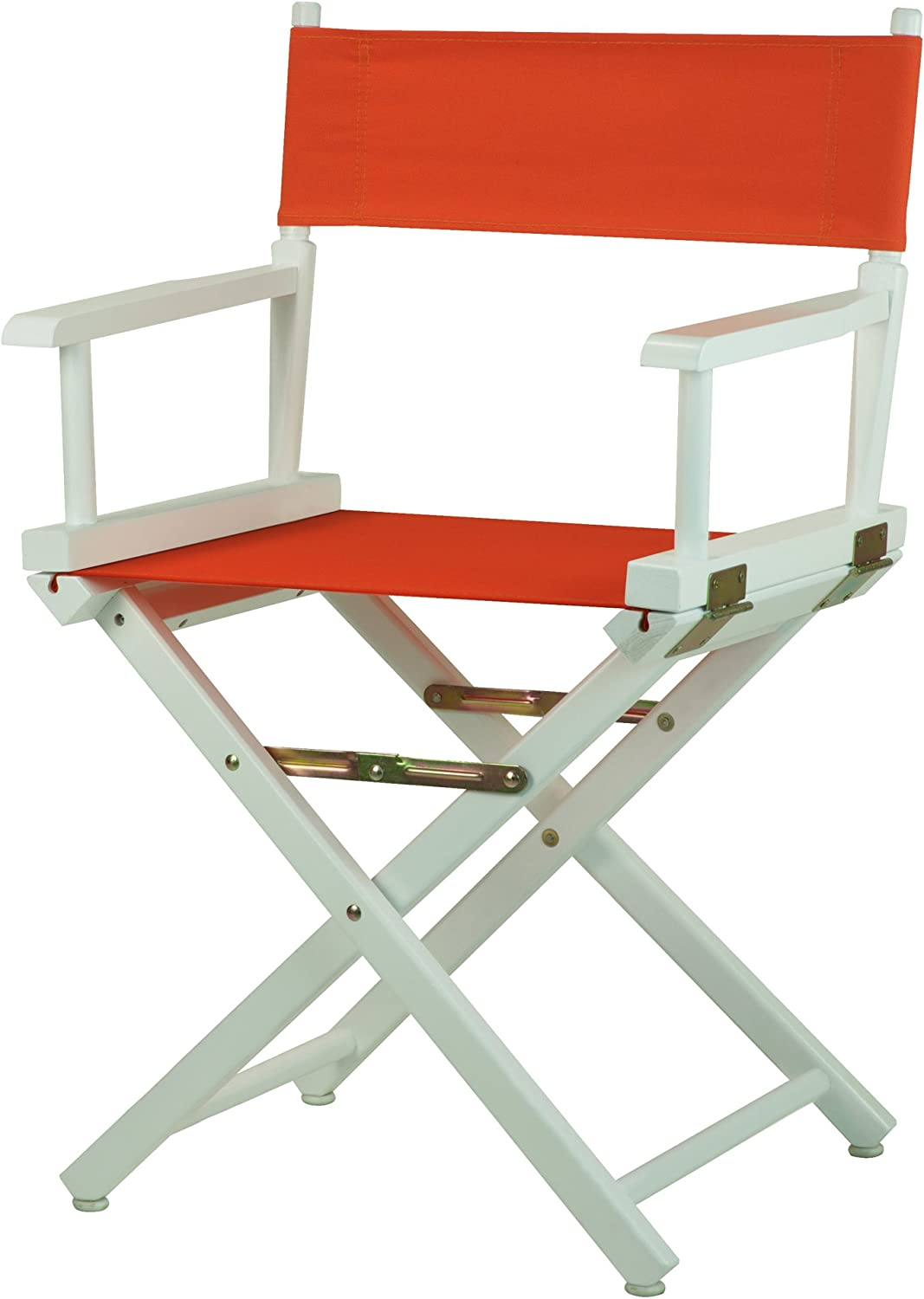 Casual Home 18-Inch Director Chair White Frame, orange Canvas