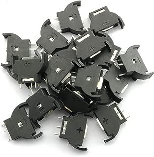 Tegg 20PCS Vertical CR2032 Shell Type Coin Button Cell Battery Sockets 3 Pin Holder Case