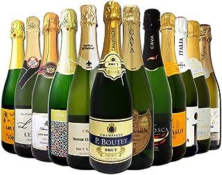 シャンパン入り 辛口スパークリングワイン12本セット
