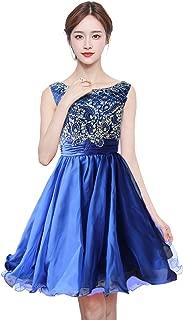 Anlin Short Prom Dresses Open Back Sequins Homecoming Dresses