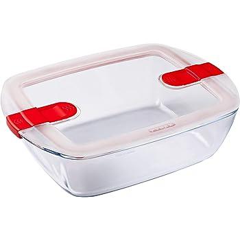 Pyrex Cook&Heat Recipiente de almacenamiento y transporte de alimentos, Vidrio borosilicato: Amazon.es: Hogar