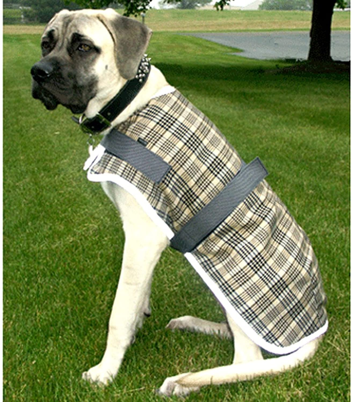 High Spirit Fleece Plaid Dog Coat - Reflect Strip 8