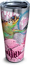 Tervis 1315703 Guy Harvey - Breast Cancer Awareness Turtles Insulated Tumbler with Wrap and Fuchsia Travel Lid, 16 oz - Tritan, Clear 30 oz - Stainless Steel Silver 1315694