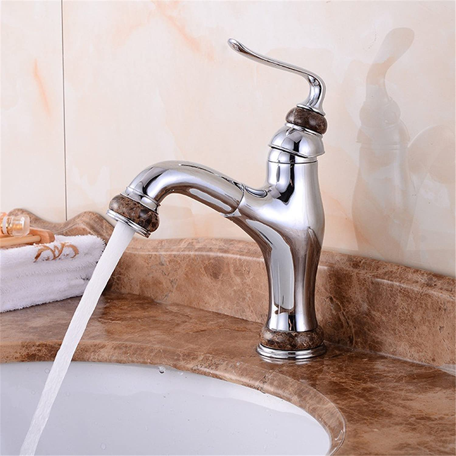Stainless steel tap basin faucet cold and hot water expansion shampoo wash basin faucet