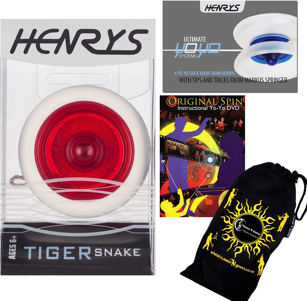 Henrys TIGER SNAKE YoYo Red Kansas City Mall Trick Be 2A Super intense SALE Looping Professional
