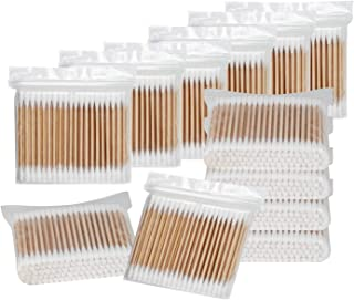 Sponsored Ad - 2000 Count Wooden Cotton SwabS, Round Double Bud Bamboo Stick Cotton Swabs,Plastic-Free Cleaning Cotton Swa...