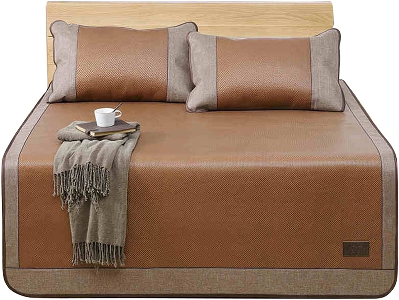 Coole Matratze Rattan Mat Sommer Schlaf Matte Faltbare Matte Duett (Ohne Kissenbezüge) Single Schlafsaal Matten (für 4ft, 4,5ft, 5ft Bed) Coole Bambusmatte (gre   1.5(5FT) Bed)