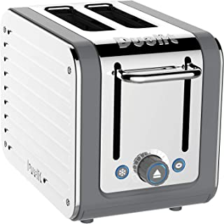 Dualit Architect 2 Slice Toaster Stainless Steel with Grey Trim Extra-Wide Slots, Peek and Pop Function, Patented Ideal To...