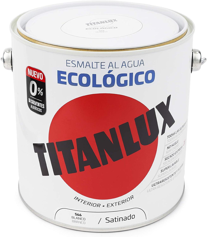 Titanlux - Esmalte agua ecologico santinado, Tabaco, 750ML (ref. 01T054434)