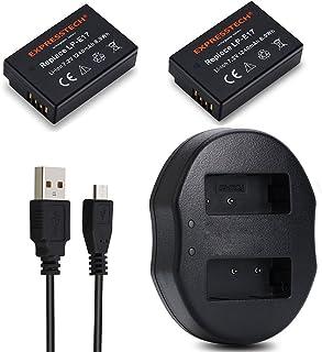 Expresstech @ 2X Batería LP-E17LPE17Batería de Repuesto y Doble USB Cargador Cargador Kit Rápida para Canon EOS 77d 750d 760d 800d Rebel T6i T6s t7i Kiss X9i M3M5M6-Nueva Versión