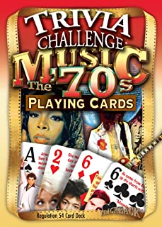 Flickback 1970's Music Trivia Playing Cards: 50th Birthday Gift
