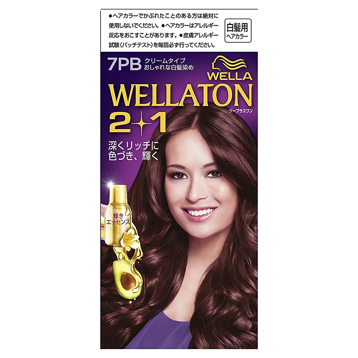 実験室できた疲労ウエラトーン2+1 白髪染め クリームタイプ 7PB [医薬部外品] ×6個