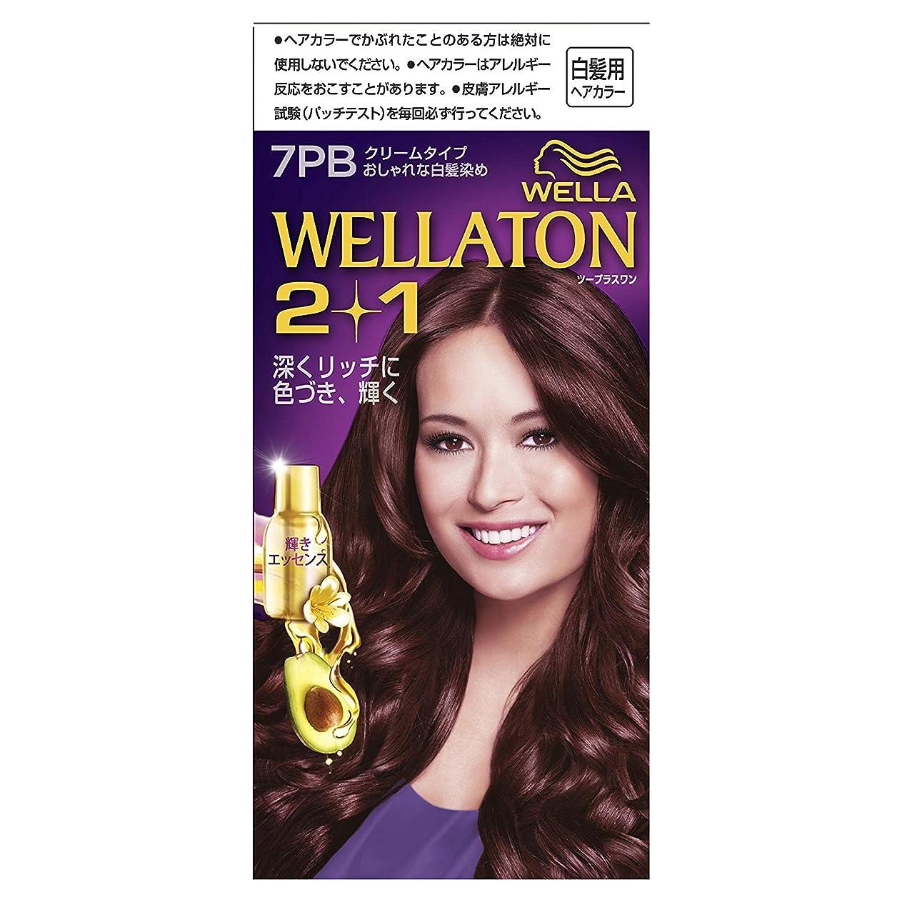 通常君主制返済ウエラトーン2+1 白髪染め クリームタイプ 7PB [医薬部外品] ×3個