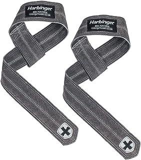 Harbinger 20800 DuraHide Real Leather Lifting Straps Black