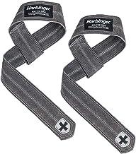 Harbinger DuraHide Real Leather Lifting Straps, Black