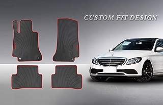 HD-Mart Car Floor Mat for Mercedes-Benz C-Class W205 S205 2013-2014-2015-2016-2017-2018-2019 Custom Fit Rubber Black Auto Floor Mats All Weather, Heavy Duty & Odorless