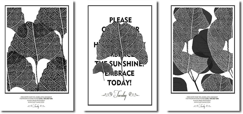 dsajgker Black White Plant Popular Leaf NEW Abstract Paintings Canvas Modern