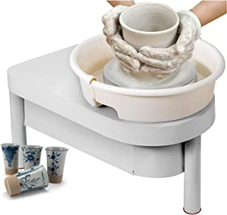 Pottery Wheel Machine, Mute Pottery Wheel Forming Machine, 25CM Electric Turntable, Pottery Wheel DIY Clay Tool with Foot ...