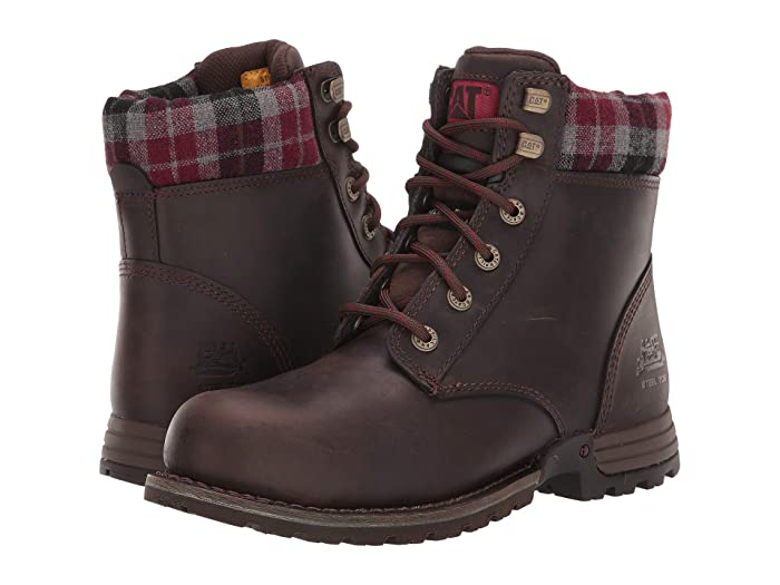 Caterpillar  Kenzie Steel Toe (Bark Merina) Womens Work Lace-up Boots