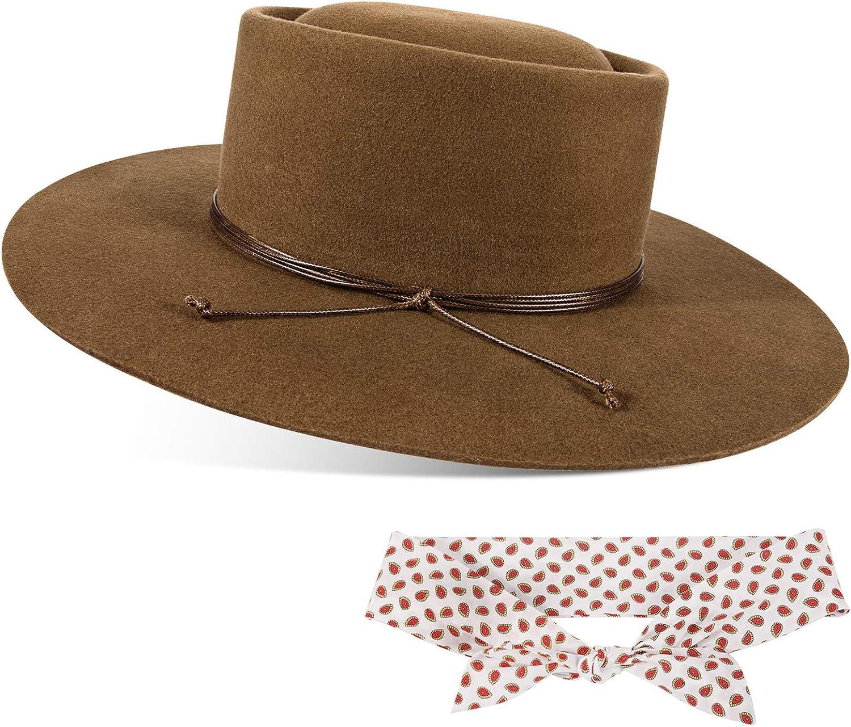 FEMSÉE Fedora Hats for Men Women Hat 100% Cheap mail order specialty store Vintage Wool Felt Excellent W