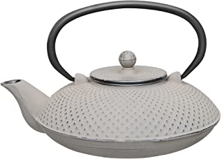 Berghoff Studio Cast Iron Teapot Stainless Steel Infuser Filter & Fully Enameled Interior .75 qt- Grey