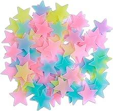 Adesivos de parede Amaonm 3D Stars, Colorful, 3.8cm, 100