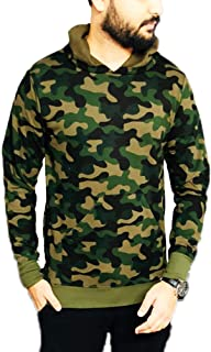 Veirdo Men's Cotton Hoodie T-Shirt - Camouflage