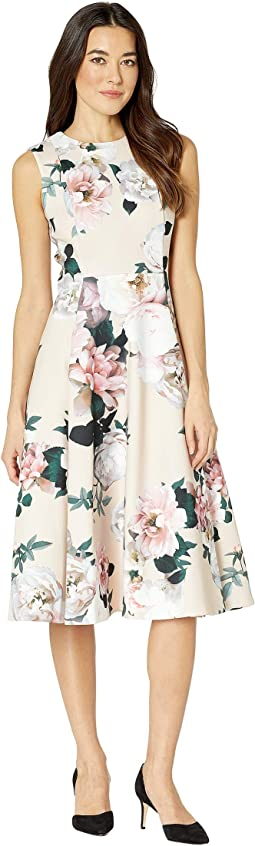 Floral A-Line Dress with Pockets