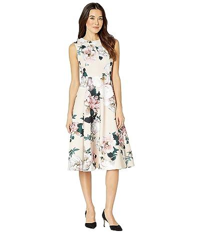 Calvin Klein Floral A-Line Dress with Pockets (Blush Multi) Women