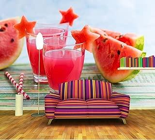 Yosot Custom Modern 3D Murals Watermelon Juice Food Wallpaper Living Room Tv Wall Kitchen Ktv Bar Wall 3D Wallpaper-400Cmx280Cm