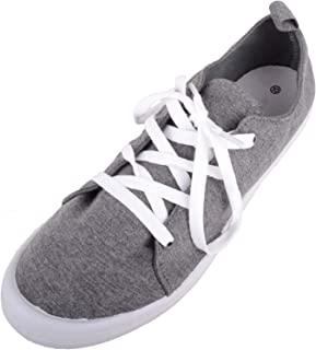 ABSOLUTE FOOTWEAR Womens Casual Lace Up Slip On Canvas Summer Trainers/Pumps/Shoes