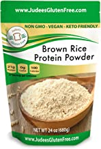 Judee's Brown Rice Protein (80% protein) 1.5 lb, Keto, Non GMO, Vegan, Sprouted, Dairy Free, Soy Free, Dedicated Gluten & ...