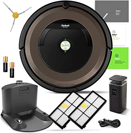 iRobot Roomba 890 Robotic Vacuum Cleaner Wi-Fi Connectivity + Manufacturers Warranty + Extra Sidebrush