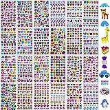 MKISHINE 24 Fogli, Adesivi Animali per Bambini,24 Adesivi in 3D di Vari Disegni Simpatici Adesivi,Adesivi Decorativi per Telefono, cartoleria, Cornice per Foto, Regalo(Modelli Casuali)