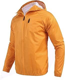 etuoji Warehouse Pakka Mens Waterproof Packable Jacket with Foldaway Hood - Lightweight, Breathable, for Sport and Rain