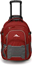 High Sierra Ultimate Access 2.0 Carry-on Wheeled Backpack, Brick Red/Mercury/Silver