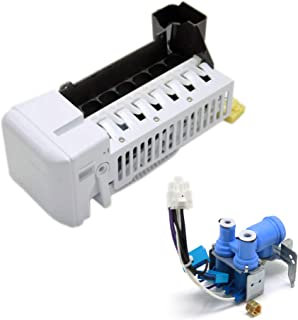 Kenmore DA97-11092B Refrigerator Ice Maker Assembly and DA62-02360B Refrigerator Water Inlet Valve Bundle