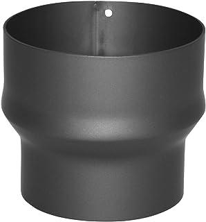 Kamino–Flam – Acero Adaptador de reducción para tubo de chimenea, Tubo reducción estufa, Chimenea reducción, Gris oscuro, Ø 150-180 mm/altura 132mm