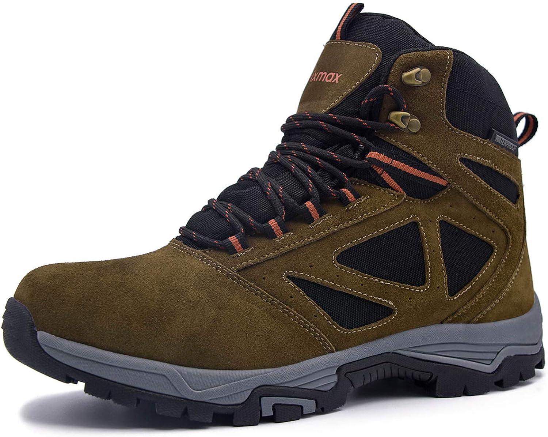 Knixmax Hiking Boots Men HighTop Trekking shoes Waterproof NonSlip Lightweight Outdoor Walking Boots