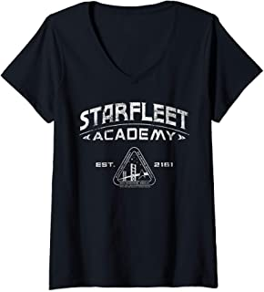 Womens Star Trek Starfleet Academy 2161 Vintage V-Neck T-Shirt