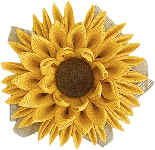 new arrival Sunflower Wreath Spring Summer Wreath for Front Door- A Sunflower - Cloth Wreath Home Decor wholesale Wedding Window Wall Decorations, outlet online sale 13In outlet online sale