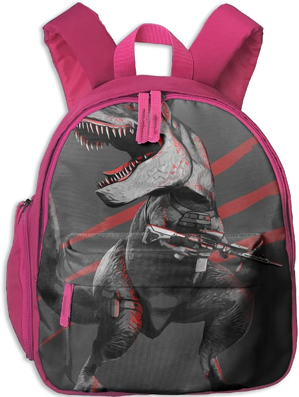 Pinta Start Shooting Dinosaurs Cub Cool School Book Bag Backpacks for Girl's Boy's